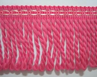 5 yards Pink Bullion Fringe, Bullion trim, Twisted rope, Drapery trim, Home Decor Fringe, Bullion trim, pink trim, pink fringe, pink bullion