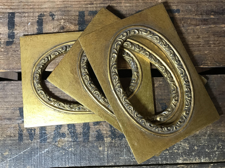 Oval Mount | Oval Frames | Gold Mount Frame | Gold Mount Frame | Set ...