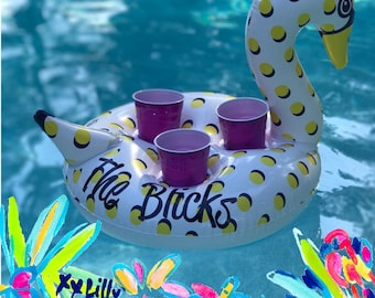 Monogrammed Drink Float, Personalized Drink Float, Custom Drink Float, Bachelorette Party, Drink Float,Swan Float, Housewarming Gift