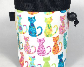 Chalk bag, Cats, Climbing Chalk Bag, Chalk bag Climbing, Rock Climbing Chalk bag, Climbing Gear, Calico Cats, Cat Chalk Bag, Chalkbag