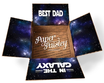 Care Package Sticker Kit - Best Dad in the Galaxy/Father's Day Gift/Box Flaps/Military Care Package/Deployment/One Day Closer/