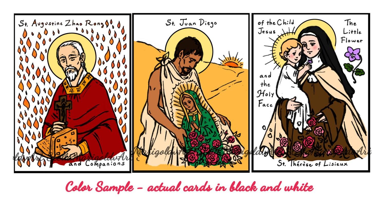 Coloring Cards of the Saints Set 2 81 saints