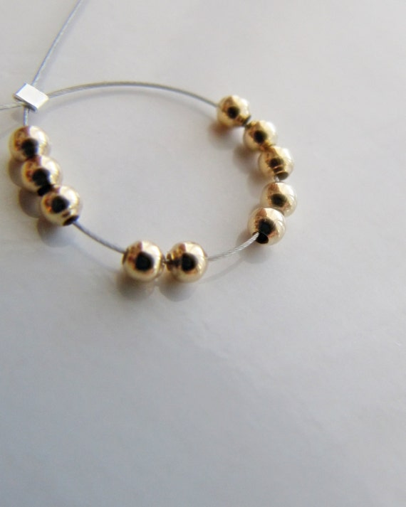 14k gold beads 2mm 3mm round SOLID 14 carat gold spacer bead