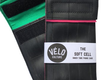The Soft Cell™ iPhone 5 case - vegan upcycled bicycle inner tube fully lined -