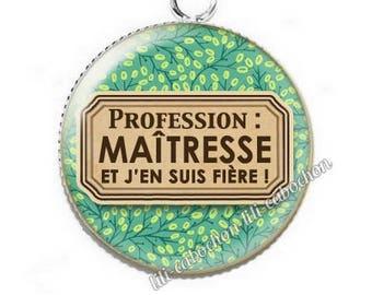 Pendant cabochon resin profession: teacher p50
