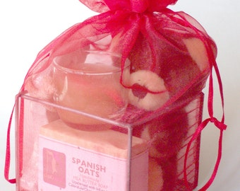 Valentine Gift, Bridal Shower gift, Red Organza Gift with Shea Butter Natural Soap,Gift Ideas for Teens, Stocking Stuffers