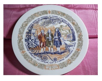 D'Arceau-Limoges Plate - Message to Franklin - Clearance Sale