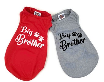 Big Brother dog shirt | Baby Shower gift | Birth announcement | Dog clothes | XS-XXXL | Big Brother Announcement Shirt | Dog shirt