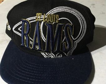 Vintage 1990s NFL St. Louis Rams Fitted Hat