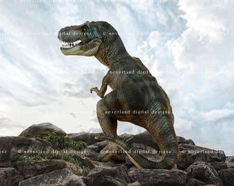 Digital Photography Backdrop / Digital Background / Instant Download / T-Rex / Tyrannosaurus Rex / Children's Props / Photography