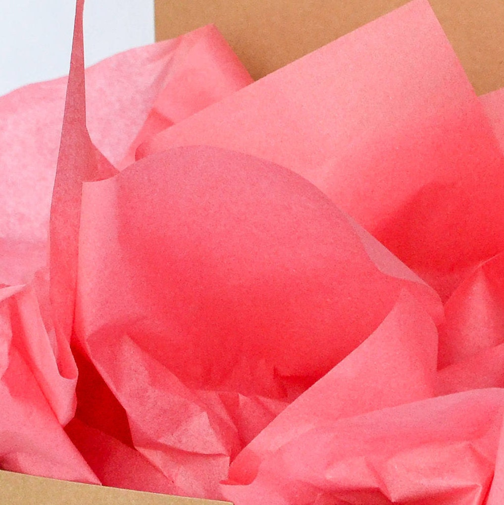 Tissue Paper, Coral Pink, Gift Tissue Paper, Party Decoration, Gift ...