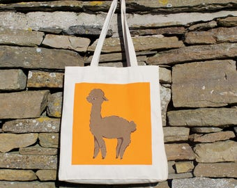 Alfalfa the Alpaca Tote Bag, Luxury Fair Trade Shopper