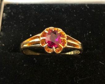 Stunning victorian burma ruby ring 0.50