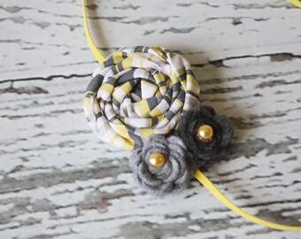 Little Bopper - rosette and felt rose headband