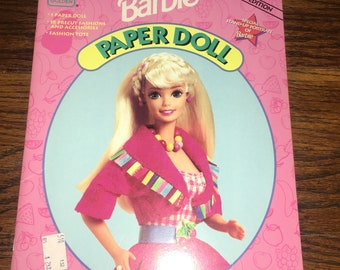 Vintage BARBIE Paper Doll Book - All Intact!  1994