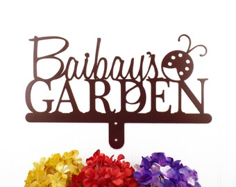 Name Sign   Gift For Her   Mothers Day Gift   Mother's Day Gift   Personalized Gift   Custom Garden Sign   Sign   Ladybug