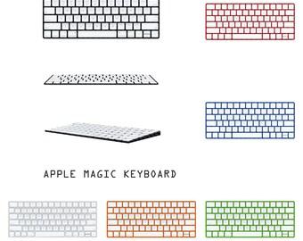 Apple Magic clavier - carbone fibre noir peau - Fullbody Protection couverture Wrap Sticker Decal - pas une coque de protection - 9 couleurs disponibles