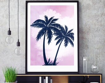 Palm Tree Pastel Print - Digital Download