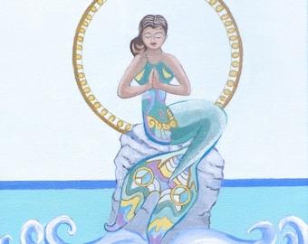 GICLEE PRINT Namaste Mermaid
