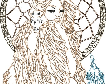 Owl what a girl machine embroidery design