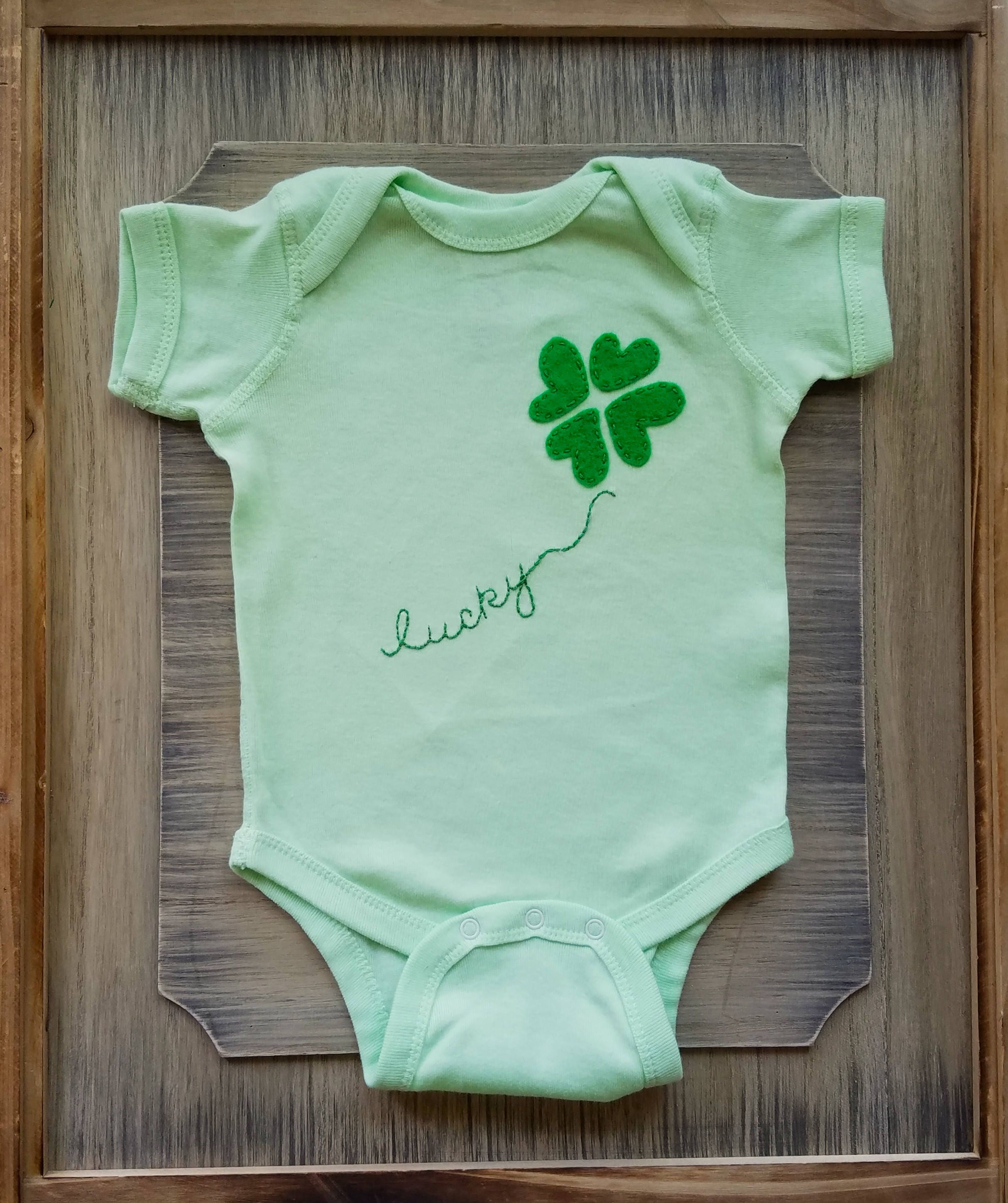 Newborn St Patricks Day Saint Patricks Day Baby Luck of the