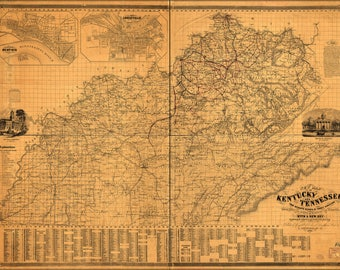 Poster, Many Sizes Available; Map Of Kentucky And Tennessee 1861 P1