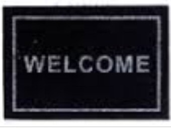 Dollhouse Miniature Black Welcome Mat