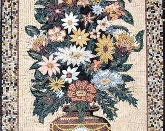 Still Life Floral Mosaic- Dhalia