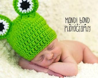 Crochet Baby Frog Hat Baby Frog Baby Boy Baby girl Frog Hat
