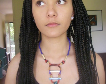 Jungle Love, Tribal Choker, Up-cycled, Unique Necklace