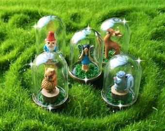 Micro terrarium, miniature terrarium, tiny terrarium dome, dollhouse terrarium, gnome terrarium, mini garden, fairy garden accessories
