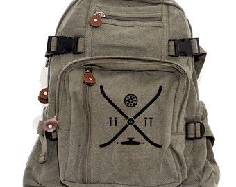 Backpack, Skateboard, Canvas Backpack, Camera Bag, Laptop Backpack, Skateboarding, Skater, Small Lightweight Bag, Hipster Backpack