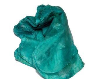 Mawatas Silk Hankies Turquoise Dark - 16 grams