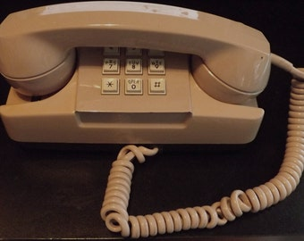 1982 GTE Automatic Electric Corded Phone (Tan)