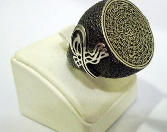 925 Sterling Silver Men's Ring with Totally Handmade 99 Names of ALLAH C.C. Al-Asma UL-Husna