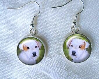 Boucles d'oreilles Jack Russell ~ boucles d'oreilles de chien ~ Parson Russell ~ boucles d'oreilles ~ cadeau fête des mères ~ Pet souvenir