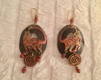 Signed unique earrings