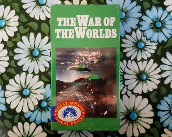 The War of the Worlds 1953 VHS sealed, deadstock