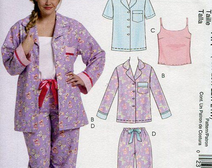 FREE US SHIP McCall's 5990 Cami Camisole Pj's Pajamas Sewing Pattern 2010 Old Store Stock Size 8/16 18/24