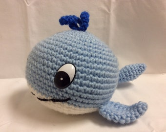 Crochet whale PDF tutorial - Amigurumi whale - crochet buddy - crochet toy PATTERN - Toy Whale - cute crochet whale pattern - softie - plush