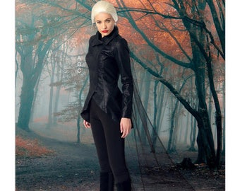 McCall's Pattern 7456 Misses' Seamed Jacket, Stirrup Leggings and Cape The Dark Swan Plus size