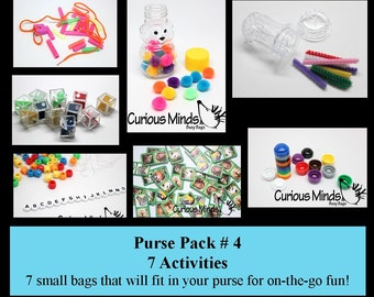Purse Pack -  Small and Packable Busy Bags Sets #1-#5