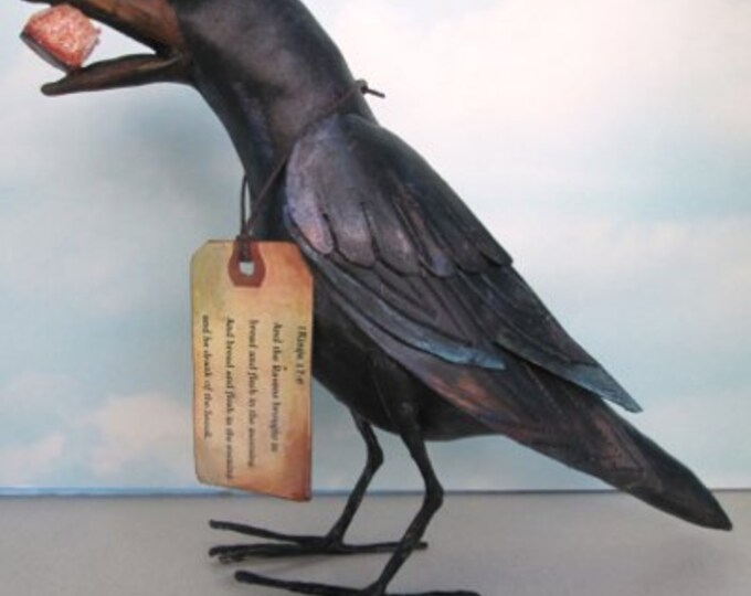 SE479E - Elijah's Raven, Cloth Sewing Doll Pattern - PDF Download