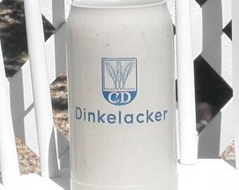 CD Dinkelacker Octoberfest 1970 German Beer Stein 1 Liter Pottery Vintage