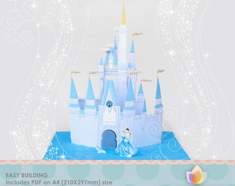 SALE!! 3D Princess Castle Centerpiece, Princess Castle