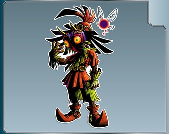 SKULL KID Vinyl Decal from the Legend of Zelda Majora's Mask sticker for almost anything!