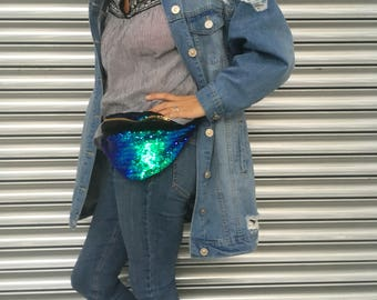 Mermaid sequin bumbag fannypack rainbow sequin discobag