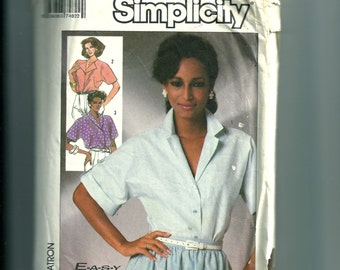 Simplicity Misses' Set of Easy to Sew Blouses Pattern 7482