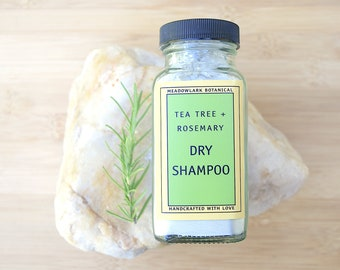 Natural Dry Shampoo | Vegan Dry Shampoo w. Bentonite Clay + Herbal Infusion  | Zero Waste & Non GMO | SLS Free Haircare