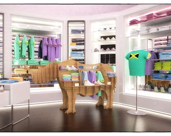 HORSE CABINET Template cutting file Horse storage stand
